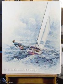 Original 'Rounding The Buoy' For Sale