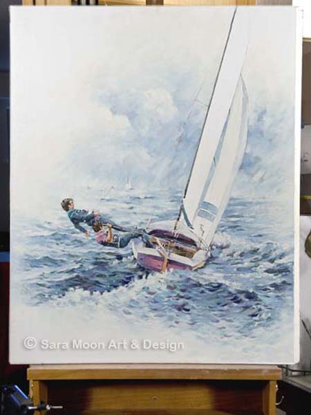 ORIGINAL 'Rounding The Buoy' by Sara Moon