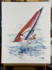 ORIGINAL 'Riding The Waves' by Sara Moon