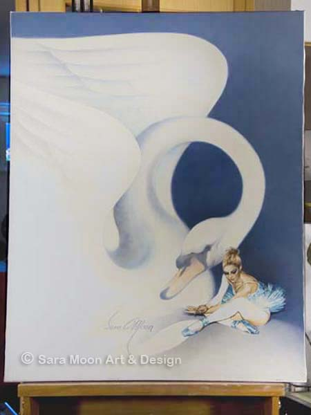 "Original ""Swan Song"" by Sara Moon"