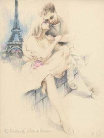 Parisian Dream Sketch by Sara Moon