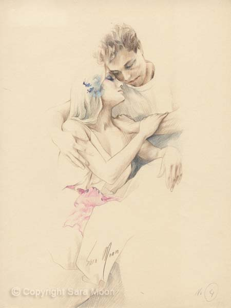Original 'Romance' Sketch by Sara Moon
