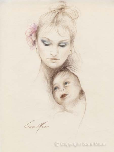 Mother and Child by Sara Moon