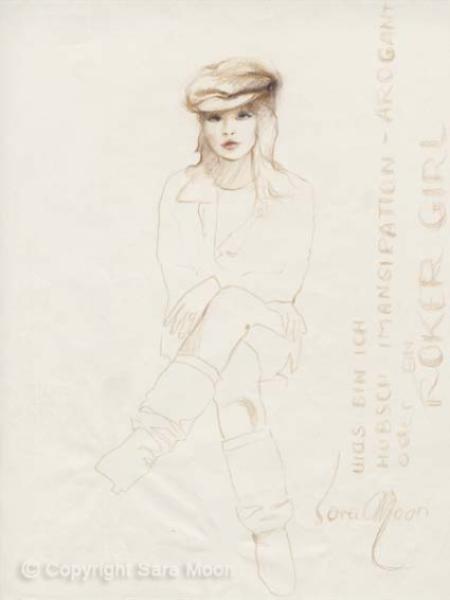 Rocker Girl Sketch l Click to View