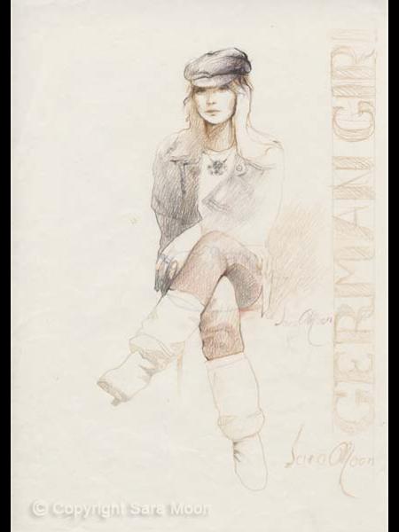 Rocker Girl Sketch ll by Sara Moon