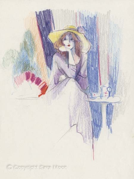 Sketch for 'Jaqueline's Hat' by Sara Moon