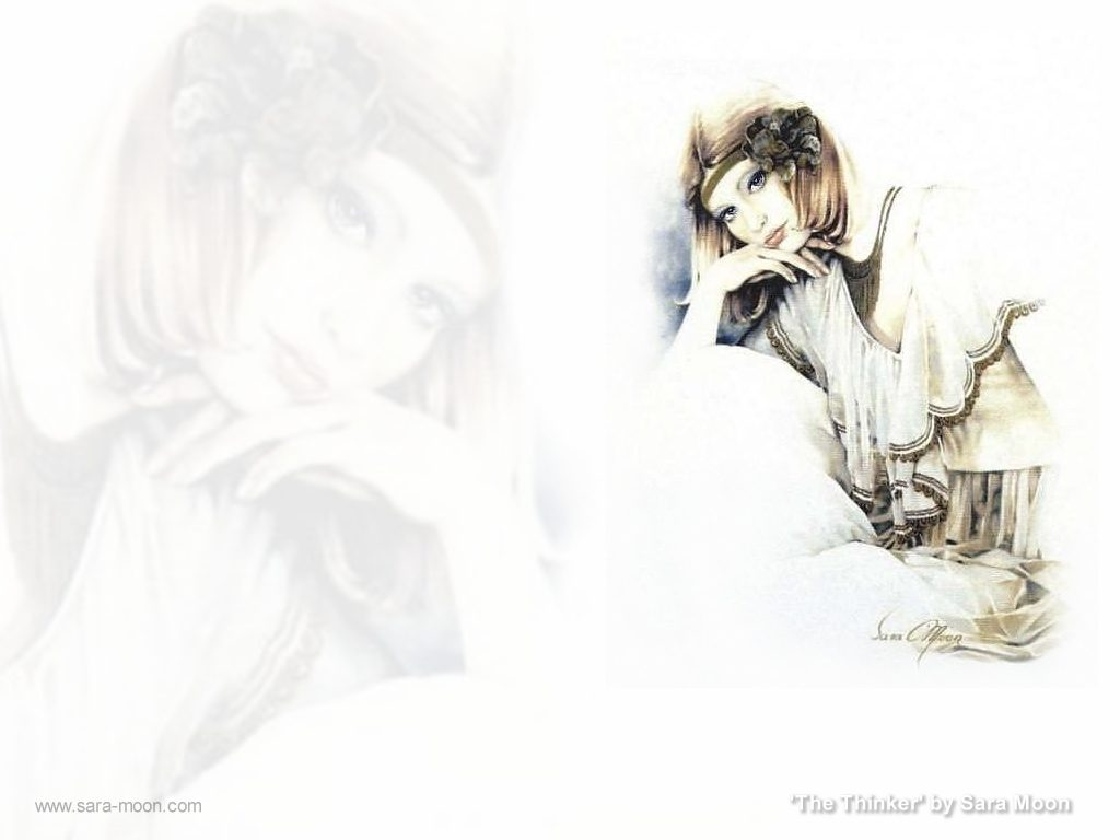 """The Thinker"" Wallpaper by Sara Moon"